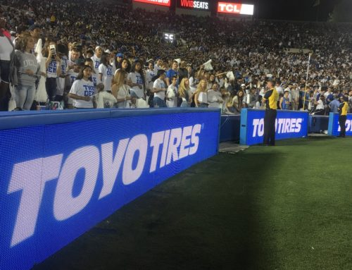 TOYO TIRES IS NOW THE OFFICIAL TIRE OF UCLA ATHLETICS AND THE ROSE BOWL STADIUM